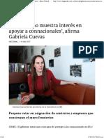 14-04-17 'Gobierno No Muestra Interés en Apoyar a Connacionales', Afirma Gabriela Cuevas - Vanguardia
