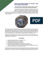 PROTOKRAFT Introduces Mustang Series TFOCA II Ethernet Media Converters