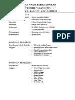Daftar Nama Perkumpulan