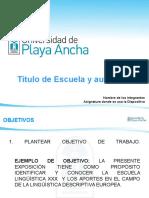 Pauta Escuelas Linguisticas 2012