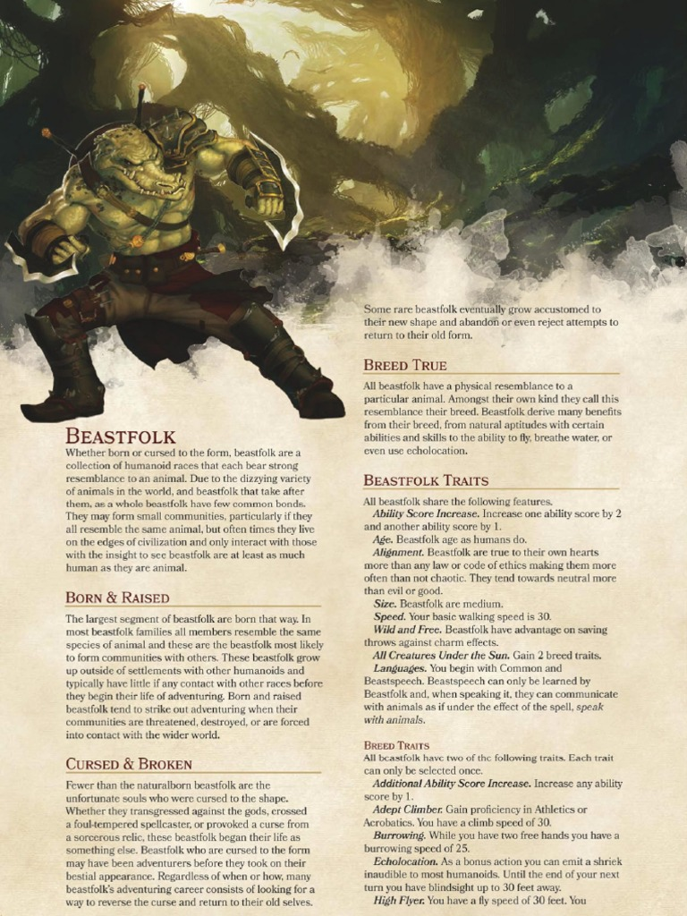 Homebrew Races Various Authors Wizards Of The Coast Games Fantasy Creatures