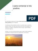 63 Frases Para Comenzar El Día de Forma Positiva