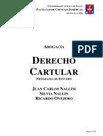Derecho Cartular - Programa de Estudio - Argentina