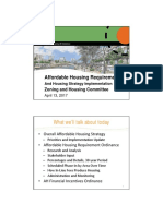 City Affordable Housing Presentation
