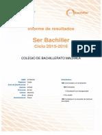 Ineval Resultado Ser Bachiller 2015-2016