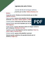 Programa de Acto Cívico