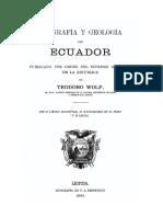 Geografia y Geologia Del Ecuador
