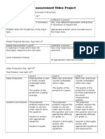 rubric for direct measurement video project