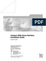 Cisco Catalyst 4500 Installation Guide