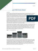 Cisco Catalyst 4500 Series Switch Data Sheet