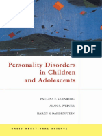 87711087 Personality Disorders in Children and Adolescents P Kernberg