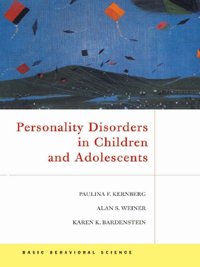 87711087 Personality Disorders in Children and Adolescents P