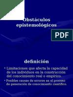 Obstáculos epistemológicos 2014