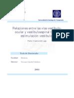 Relaciones Entre Las Vias Vestibuloocular y Vestibuloespinal Tras La Estimulacion Vestibular 0
