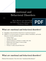 emotional and behavioral disorders powerpoint presentation