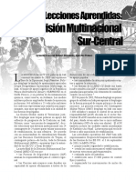 División Multinacional Sur-Centro, Military Review