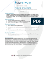 Managing Situations Discussion Guide