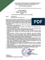Surat Edaran Perpindahan Homebase Antar PT