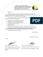 Thesis Proposal Letter