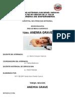 Anemia Grave