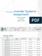 Recommending System Assignment - 10131006