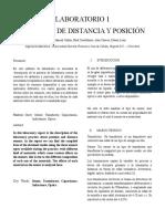 Laboratorio de Sensores de distancia y posición