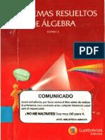 Problemas Resueltos Álgebra Lumbreras Tomo i PDF