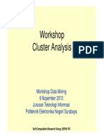 Workshop - Cluster Analysis