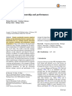 Corporate Entreprenuership and Performance Meta Analysis