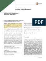 Corporate Entreprenuership and Performance Meta Analysis