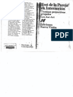 Test de La Pareja en Interacción. Tecnicas Proyectivas Grupales - Luis Jose Juri