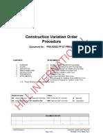 Variation Order Procedure