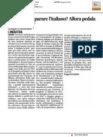 Hai voluto imparare l'italiano? Allora pedala - Il Corriere Adriatico del 13 aprile 2017