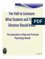 Licensure Steps for Faculty
