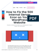 How to Fix the 500 Internal Server Error on Your WP