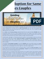 Child Adoption for Same Sex Couples