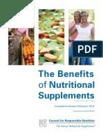 CRN BenefitsofNutritionalSupplements 2012