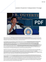Understanding President Duterte's 'Independent Foreign Policy' - Asia Pacific Pathways to Progress Foundation Inc