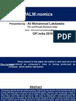 Palmonomics