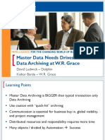 Master Data Needs Drives Data Archiving at WR Grace