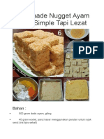 Homemade Nugget Ayam Wortel Simple Tapi Lezat