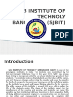 Sjb Institute of Technology,  SJB INSTITUTE OF TECHNOLY BANGALORE (SJBIT)