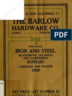 (1909) Wholesale Iron & Steel