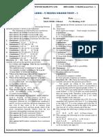 Ibps Clerk - V Mains Grand Test - 1