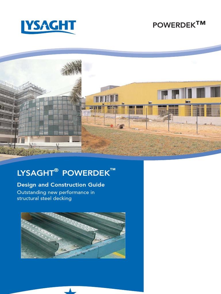 LYSAGHT Powerdek Manual (2003) pdf | Concrete | Civil
