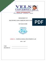 Dsp Lab Record