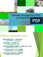 Presentation-POWERGRID Disaster Management Plan