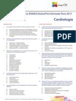 Test Curso ENAM EsSalud Pre Internado Perú 2017 - Cardiología
