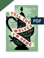 Download Il Libro Tell the Wolves i m Home Di Carol Rifka Brunt