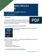 List of Sales Metrics and KPIs